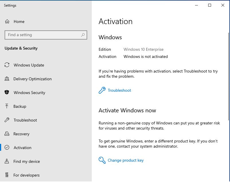 قم بترقية Windows 10 Pro إلى Enterprise