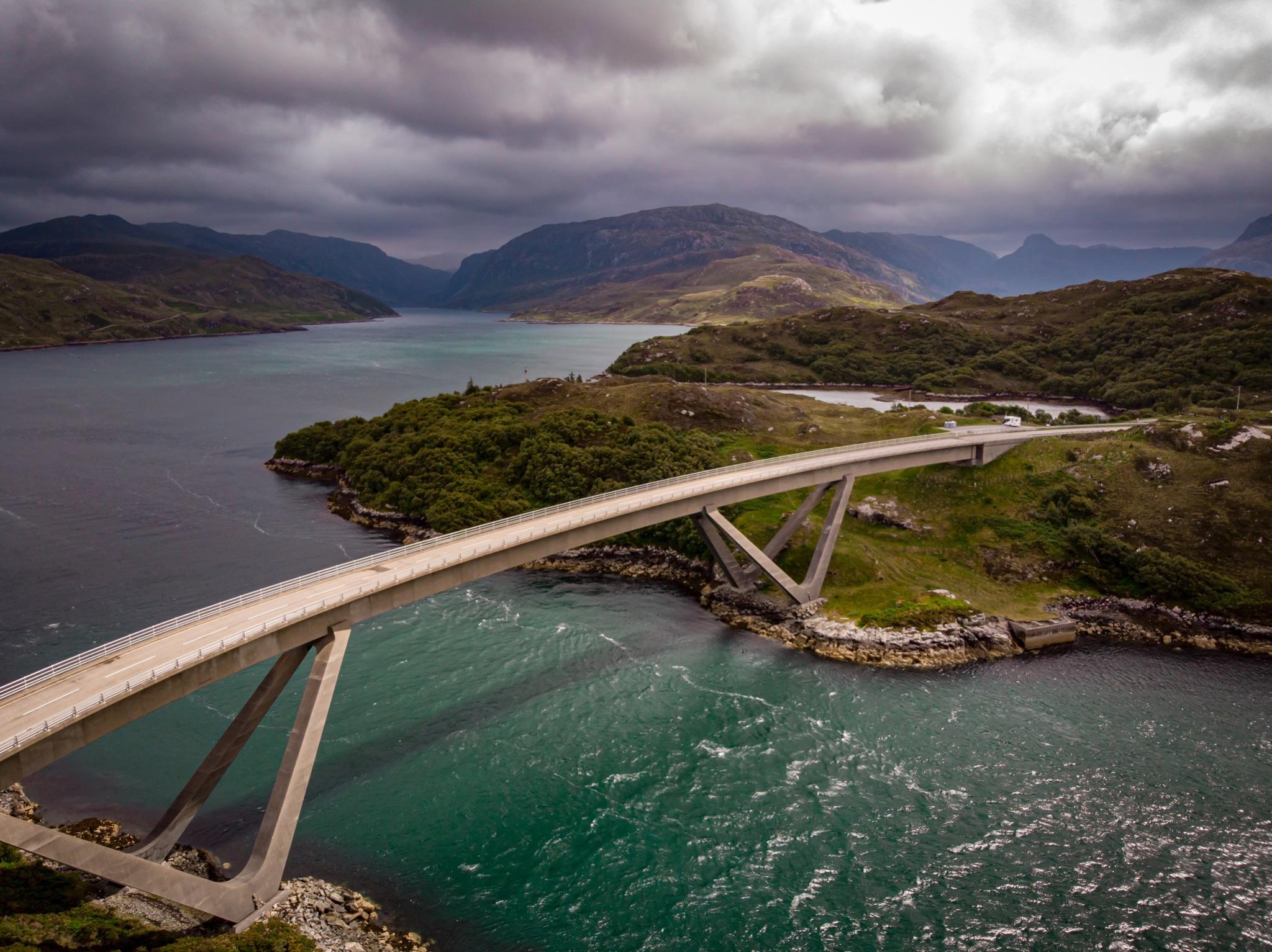 Famous bridge on the NC500 route