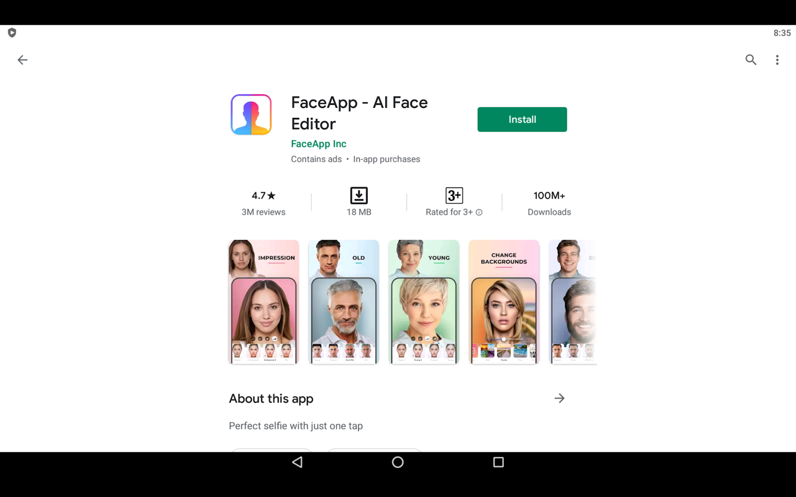 Faceapp on PC