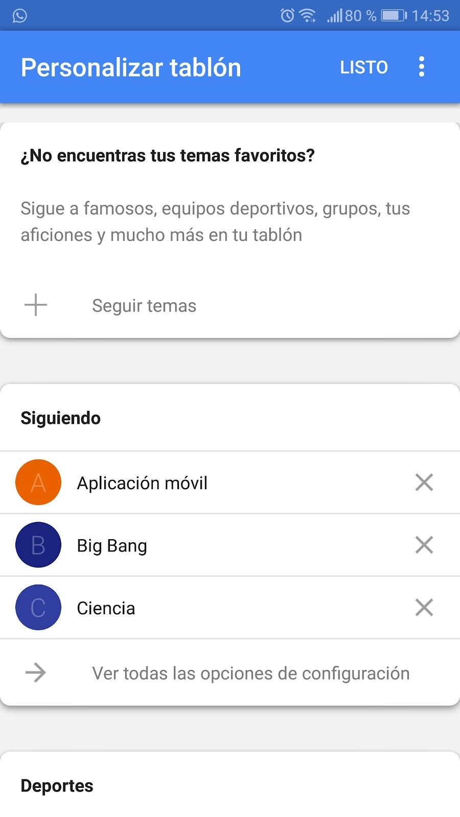 Personalización de un móvil para Google Assistant