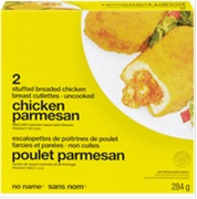 No Name brand Chicken Parmesan Stuffed Breaded Chicken Breast Cutlettes - Uncooked - 284 grams