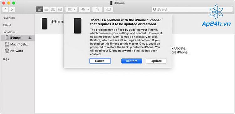 Phục hồi dữ liệu đã sao lưu trên iPhone