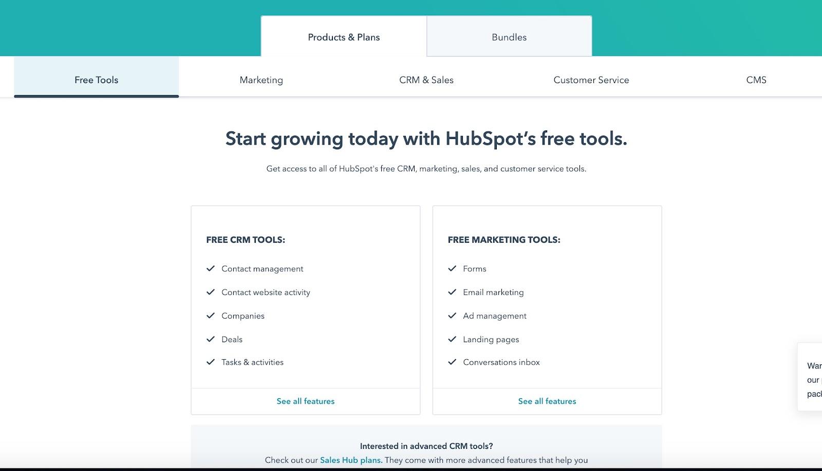 hubspot free pricing