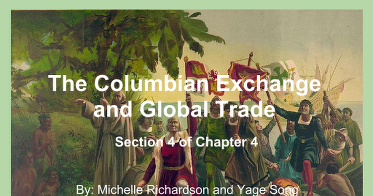 44 The Columbian Exchange And Global Trade Google Slides