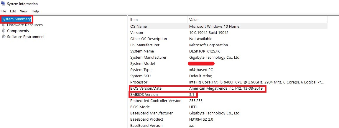 You will see a row called BIOS Version/Date in the System Summary section. You now know what BIOS edition you have.