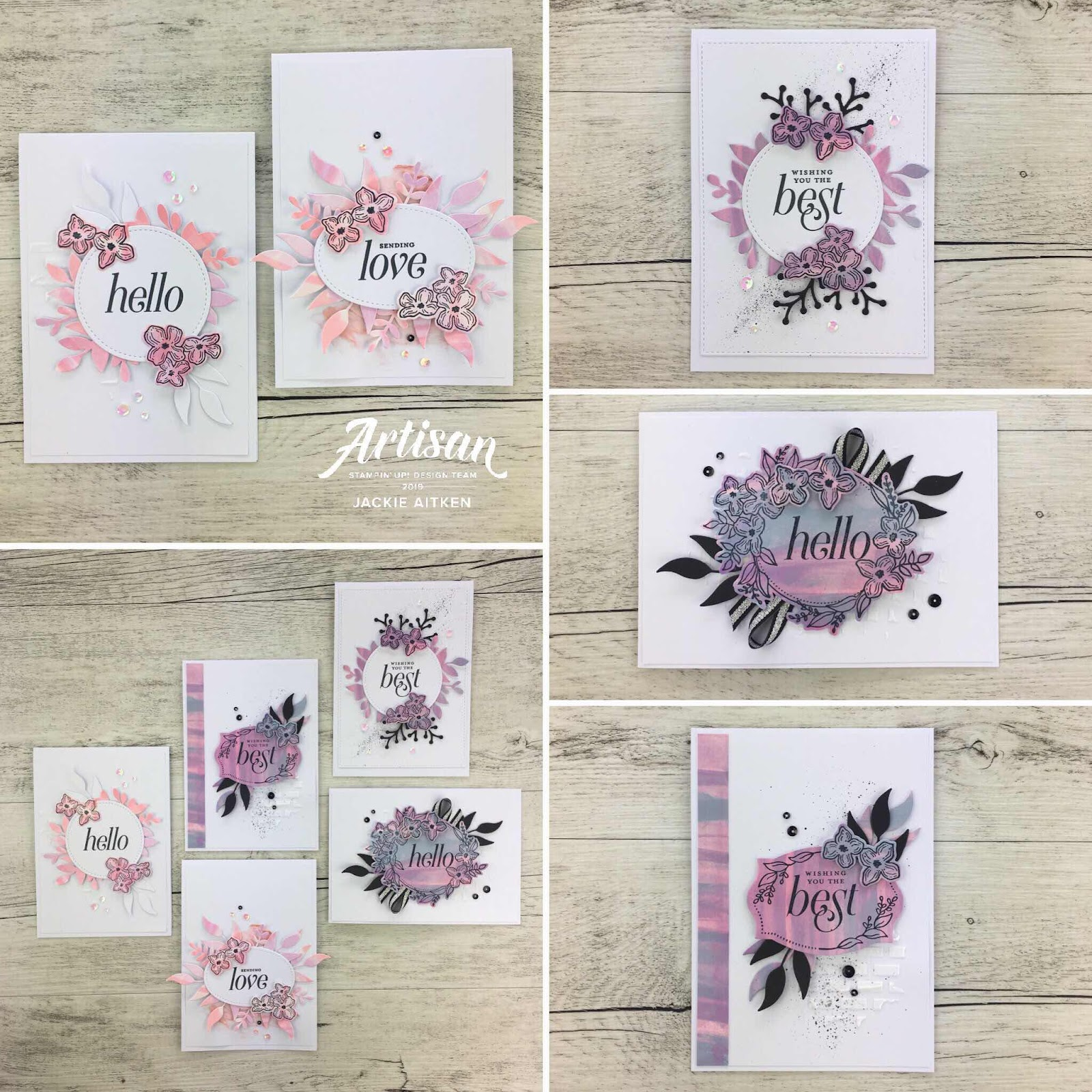 jaxxcraftycreations, handmade cards, Floral Frames, Glossy Card, Stampin' Up!, Embossing Paste, Stampin' Blends, Stamping Sunday Blog Hop, Stamping Techniques,