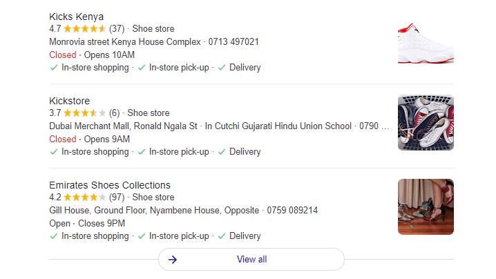 schema for online stores in Kenya