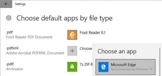 فتح pdf باستخدام مايكروسوفت إيدج