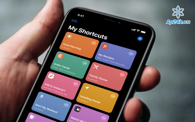 Shortcut làm việc nhanh chóng hơn trên iOS 14