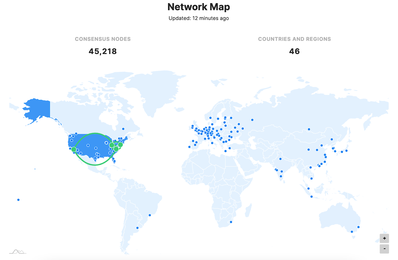 NKN Mainnet node map by https://nscan.io
