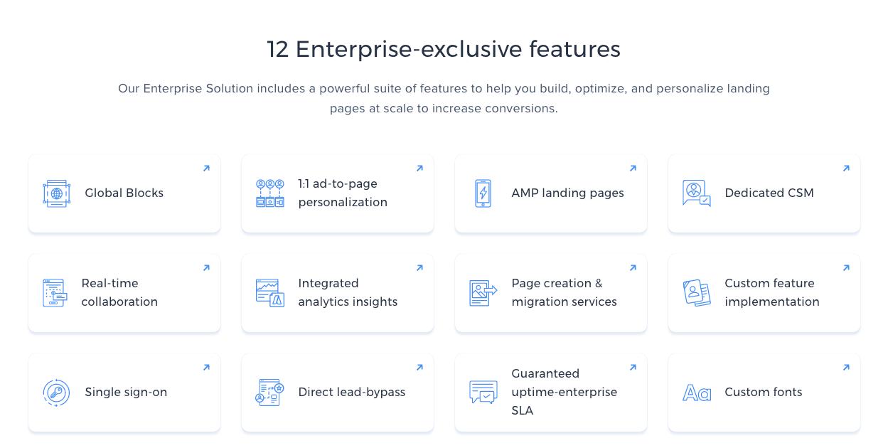 Instapage's Enterprise Features