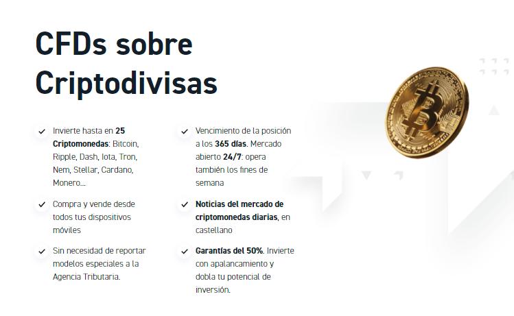 Con 25 CFDs derivados de criptomonedas, XTB toma lugar como uno de los mejores proveedores de servicios para este joven mercado.