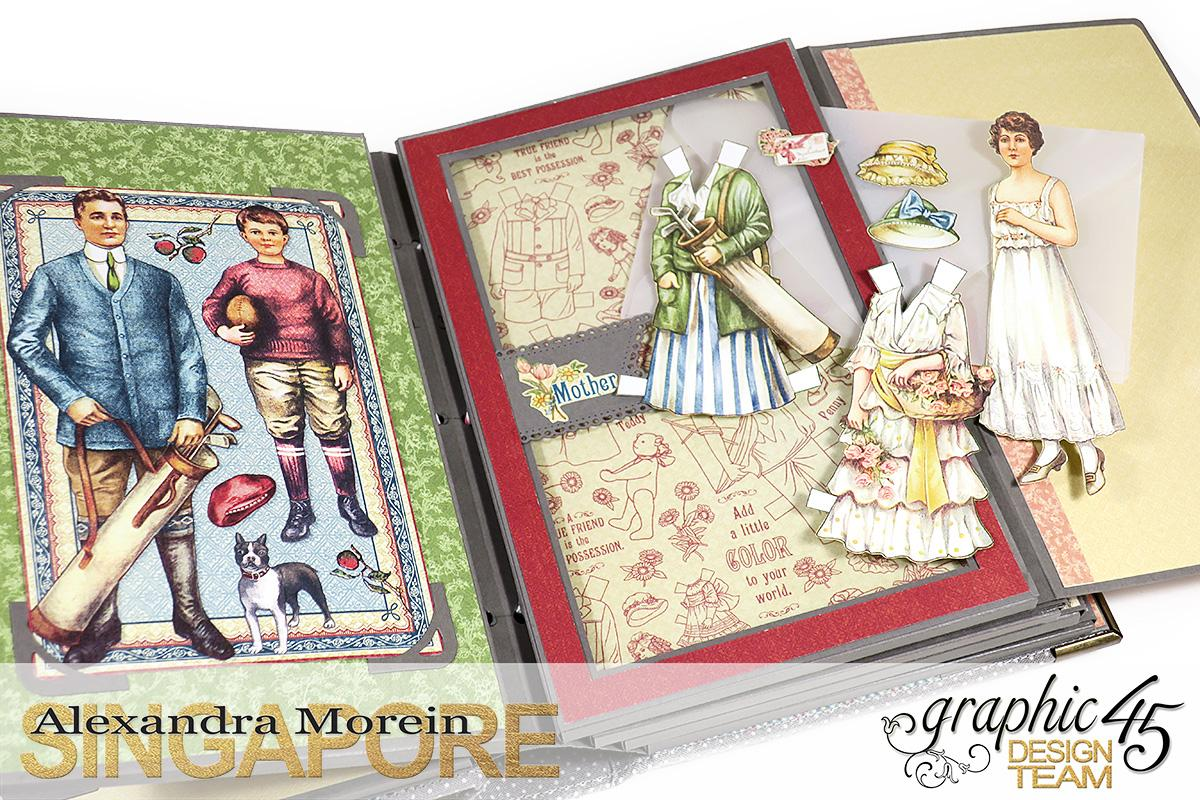 Paper Doll Play Set and Mini Album, Penny's Family Paper Doll, Tutorial by Alexandra Morein, Product by Graphic 45, Photo 12.jpg