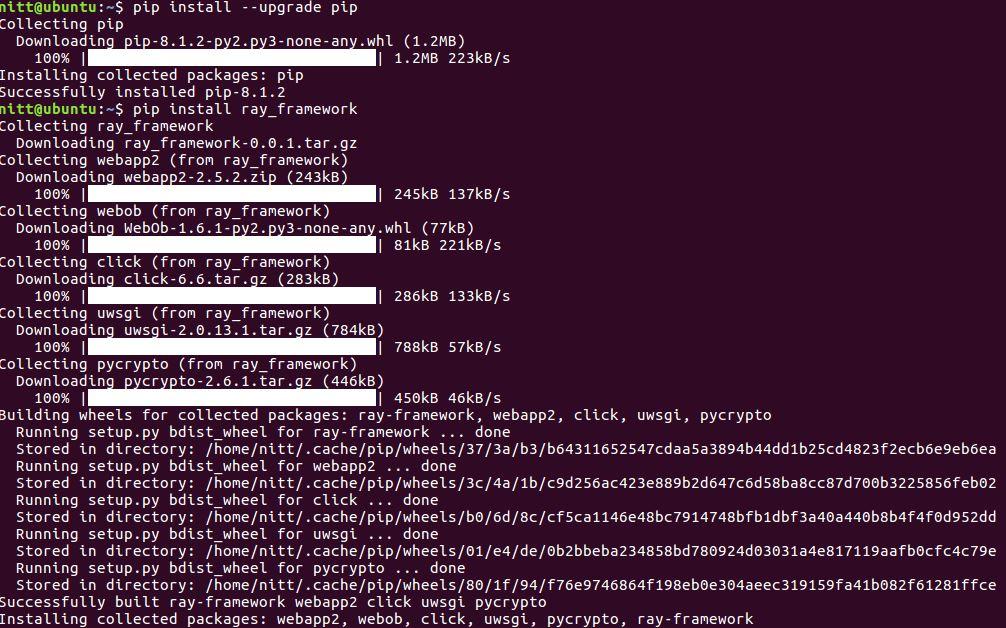 1-Ray-framework-installation.JPG