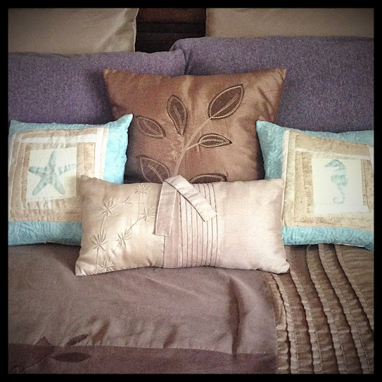 Quilted beach pillows
