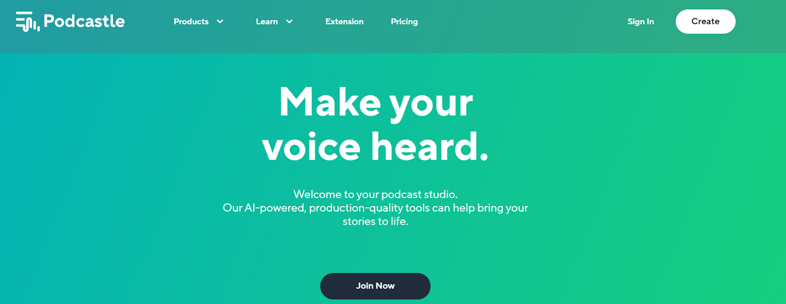 Podcastle home page