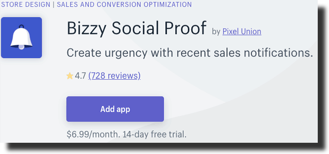 Bizzy Social Proof