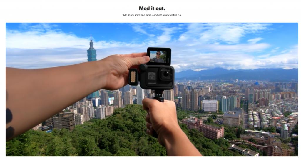 produktvideos website-inhalt mit gopro kamera