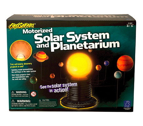 Calling all stargazers!  This mechanical solar system set is a great gift for kids interested in outer space.