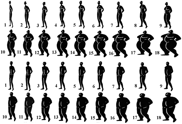 How to Calculate Your BMI - Typical BMI Chart of Sizes