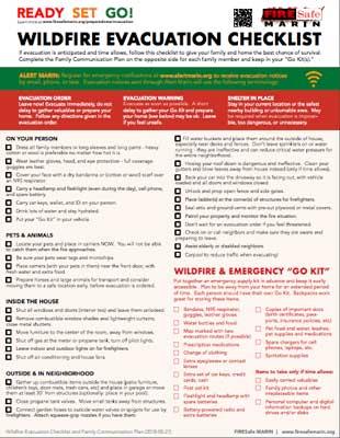 evac checklist cover