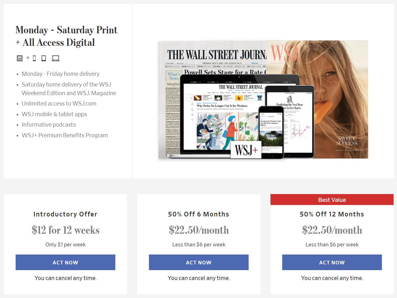 WSJ - set price anchors