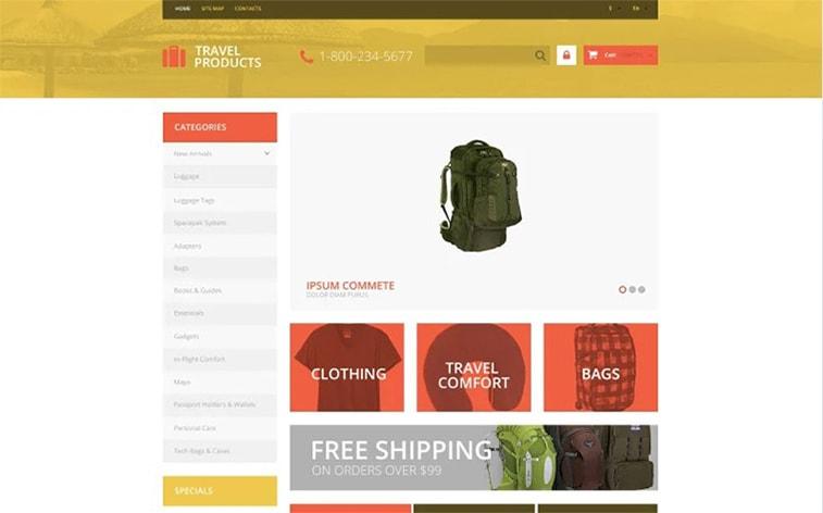 лучший бесплатный шаблон темы ботстрапа веб-сайт уличное снаряжение приключение путешествия электронная коммерция