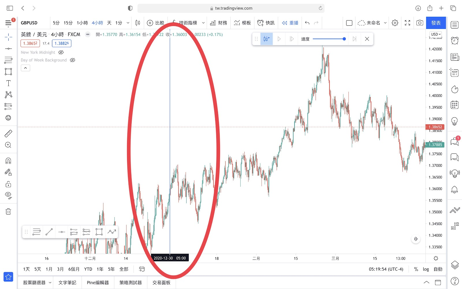 TradingView模擬交易