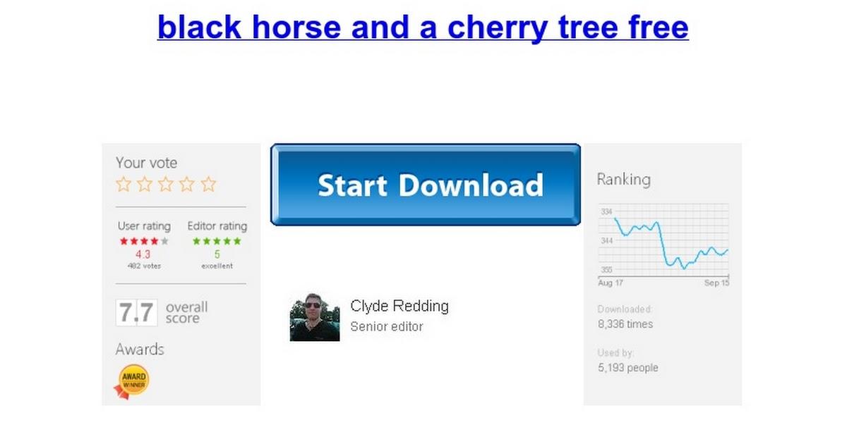 Black Horse And A Cherry Tree Free Google Docs