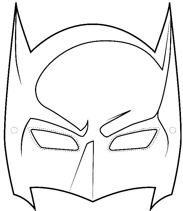 Sample Batman Mask Template - wikiHow