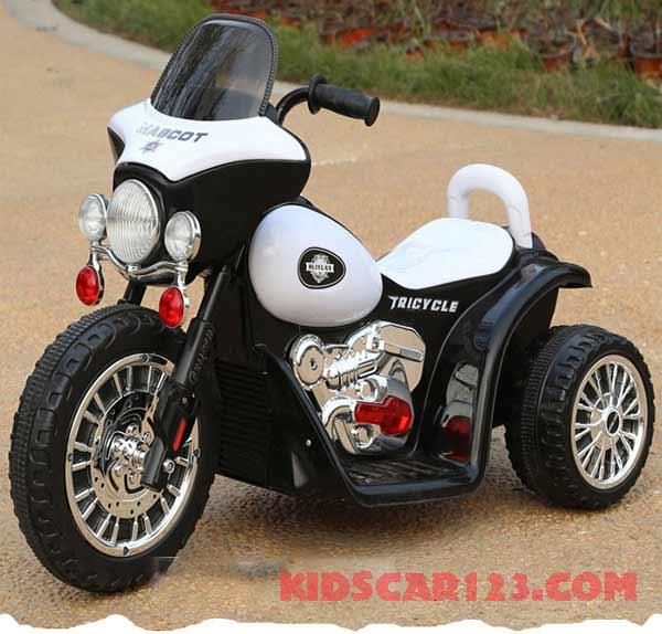 xe máy điện cho bé XJL-200 màu trắng