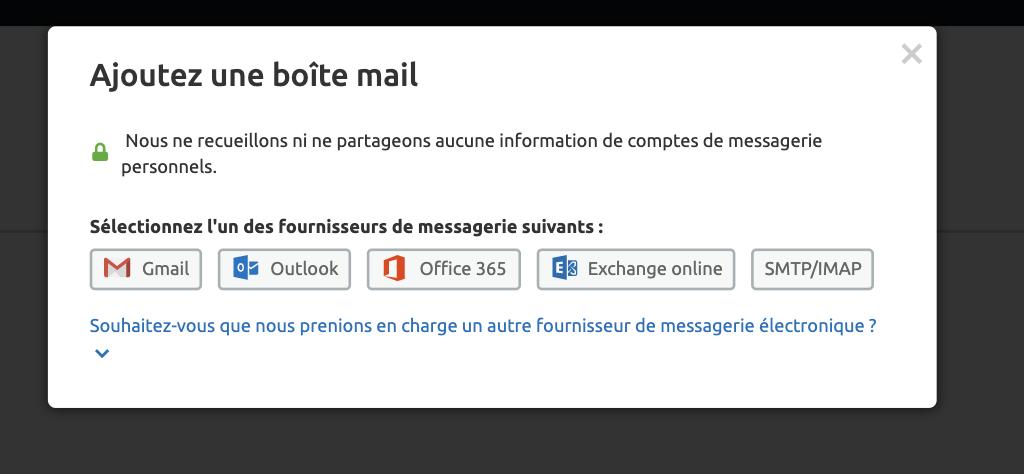 SEMRush raccorder boite email