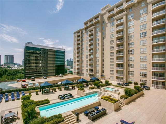 The outside of The Renaissance, which features upscale Dallas condo living.