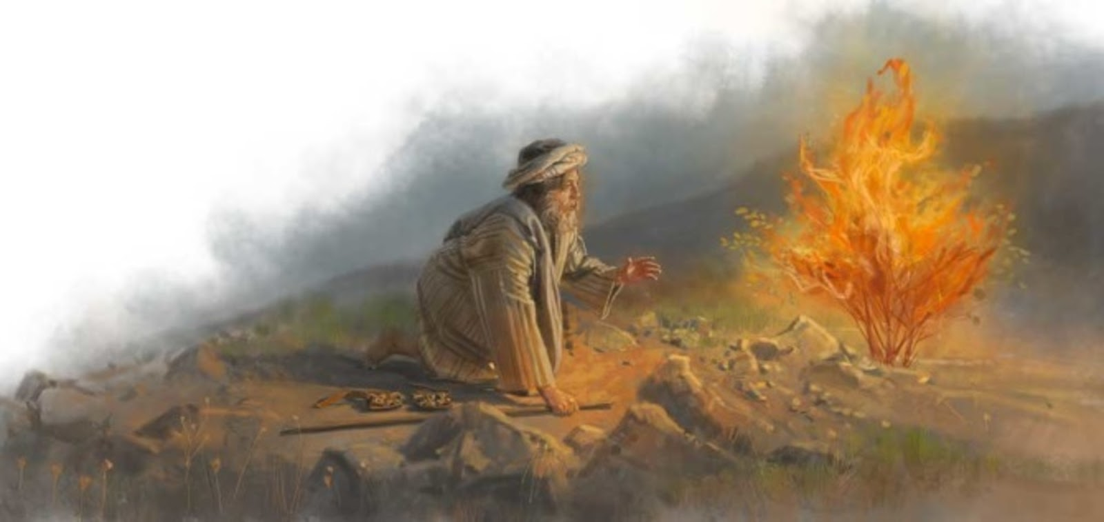 Image result for burning bush moses