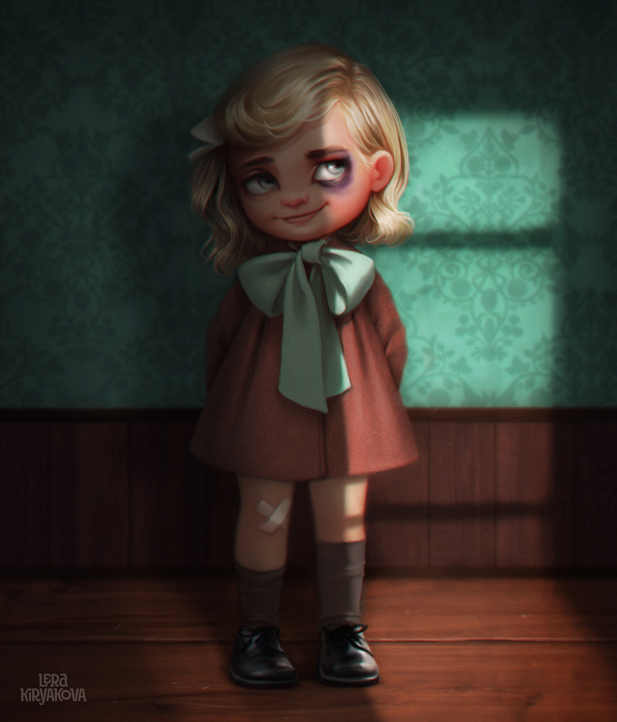 2D animation  cartoon Character design  cute Digital Art  dog girl portrait