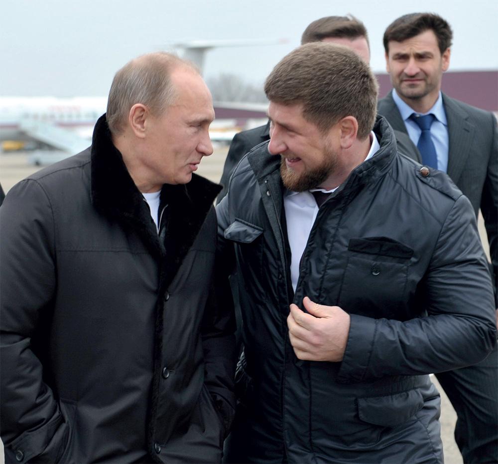 Президент РФ Владимир Путин и глава Чеченской республики Рамзан Кадыров