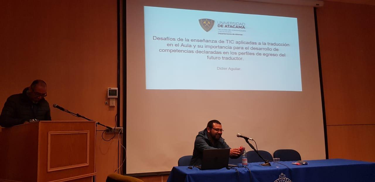 EXITOSA PARTICIPACIÓN DE ACADÉMICO EN LAS VIII JORNADAS DE LA ENSEÑANZA DE LA TRADUCCIÓN Y LA INTERPRETACIÓN.