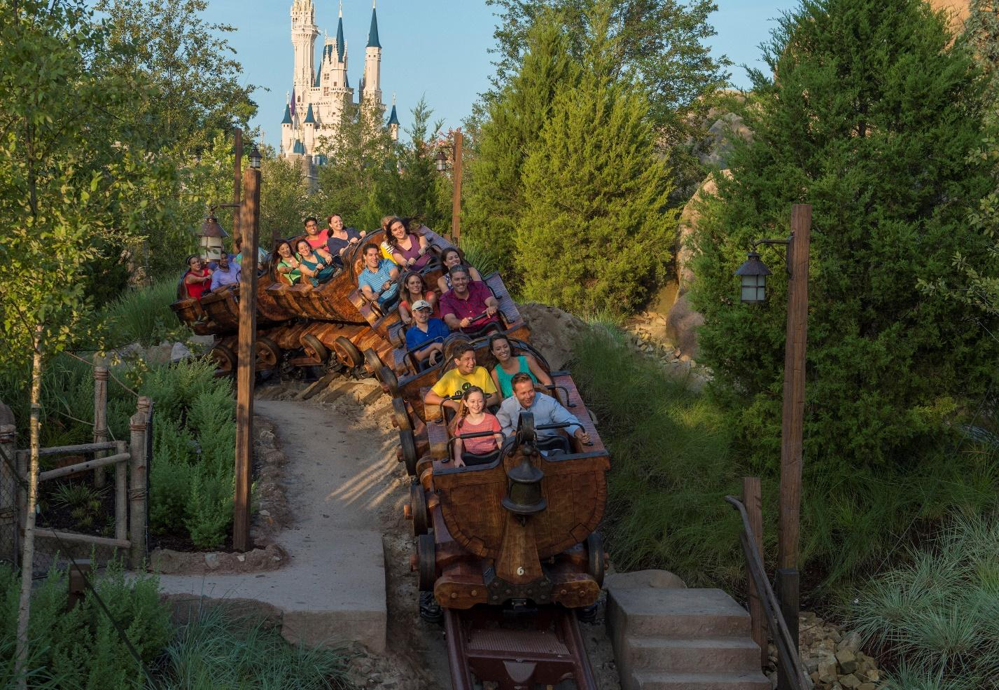 Disney attraction, Seven Dwarfs Mine Train ride.