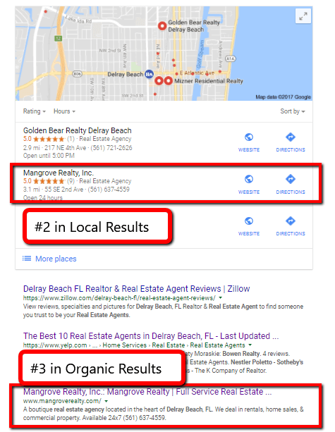 SEO Proof Delray Beach Real Estate Agency Results Real Estate Brokerage