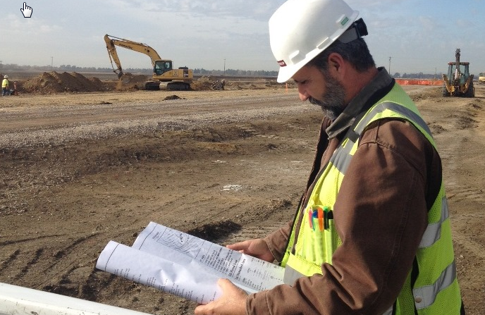 structural engineer analyzing a new build site