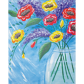 canvas painting design - Classic Bouquet