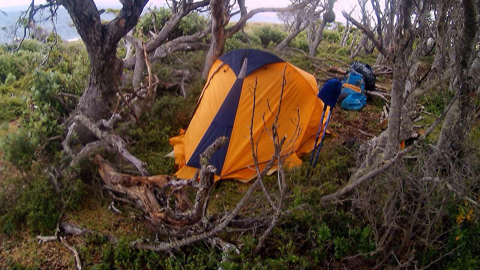 Camping in Peninsula Mitre, Tierra del Fuego, Argentina
