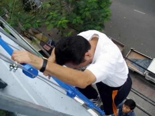 thang dây thoát hiểm chống cháy Hàn Quốc