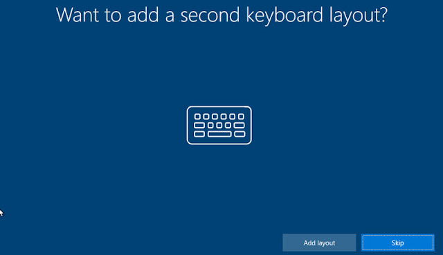 Choose the type of keyboard layout