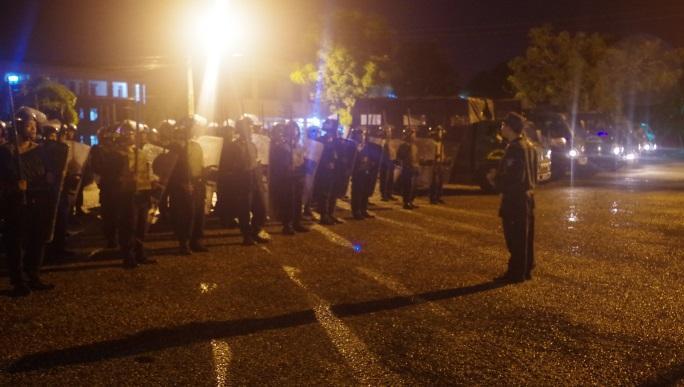 Hành quân thị uy, biểu dương lực lượng Cảnh sát Bảo vệ và Cơ động