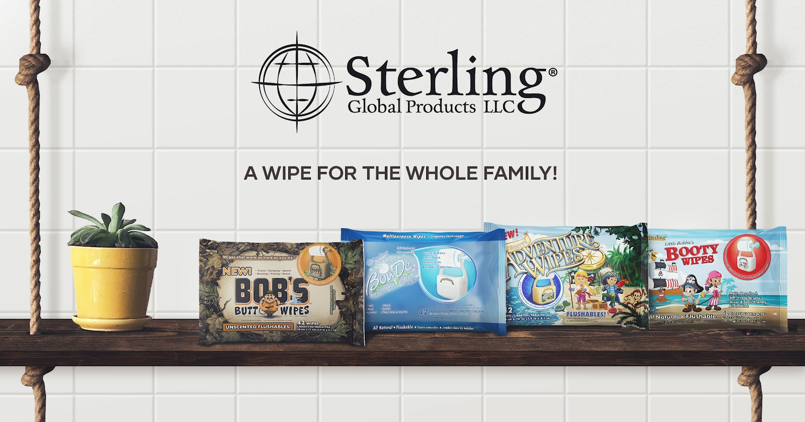 Sterling Global Products Butt Wipes