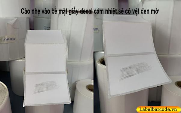 Cách phân biệt đơn giản nhất cho giấy decal cảm nhiệt trực tiếp