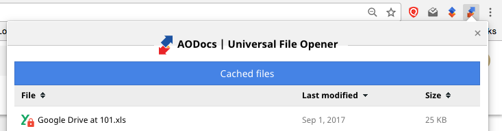 Screenshot of the UFO pop-up showing a file with a red padlock on it.