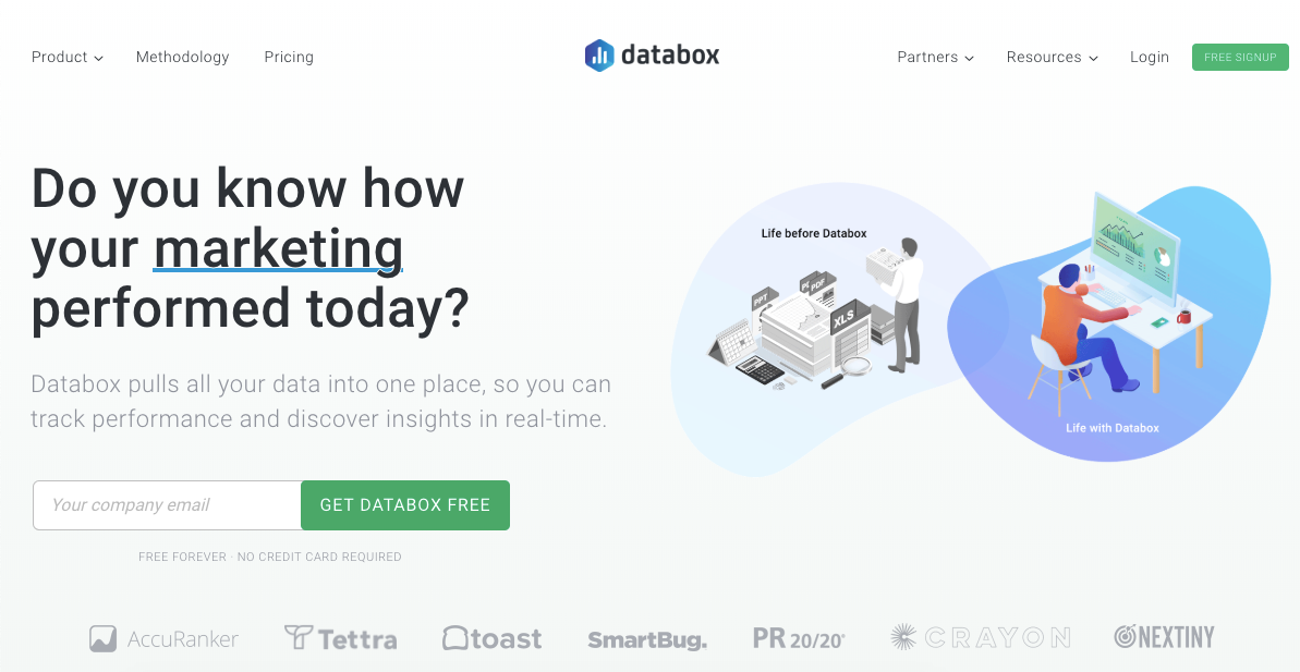 Databox homepage