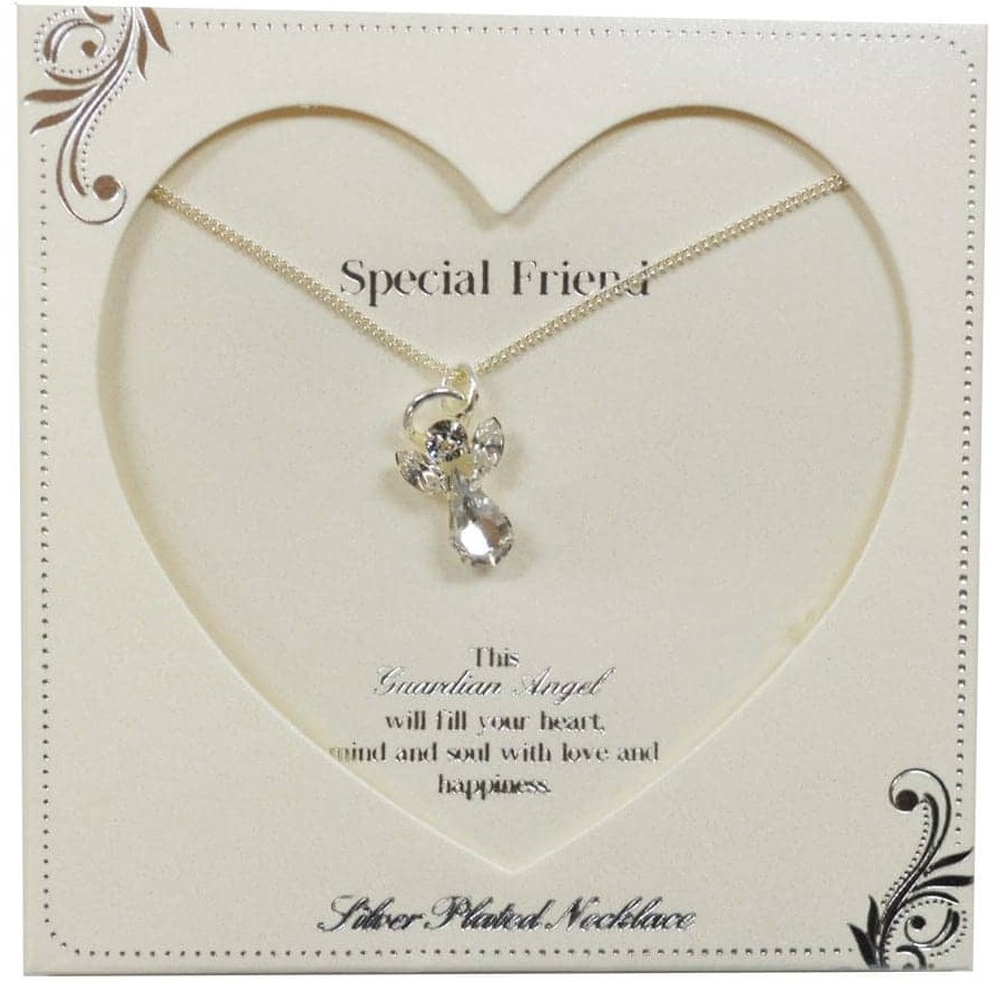 Gift Ideas for Bridesmaids; Clintons' guardian angle necklace